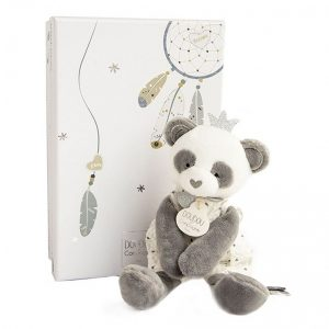 DouDou et Compagnie Panda Peluche is a very sweet comforter, doudou, that watches over your baby during nights and naps.