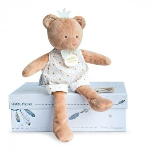 DouDou et Compagnie Pantin Teddy Comforter is a very sweet comforter, doudou, that watches over your baby during nights and naps.