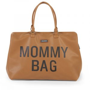 Childhome Mommy Bag Pelle Marrone