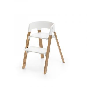 Stokke Steps OAK White Seat Natural Legs