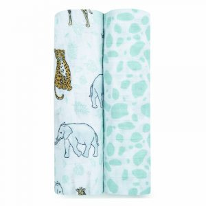 aden + anais Mussole Swaddle Classic Jungle - Set 2 pz