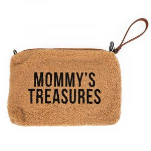 Childhome Pochette Mommy's Treasures Clutch Teddy Beige