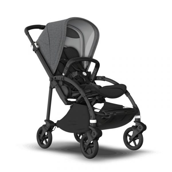Bugaboo Passeggino Bee 6 Black Black - Grey Melange
