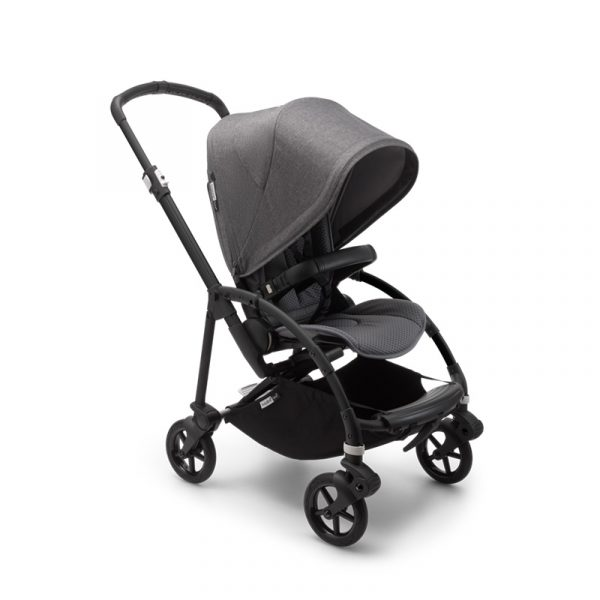 Bugaboo Passeggino Bee 6 Black Grey - Grey Melange