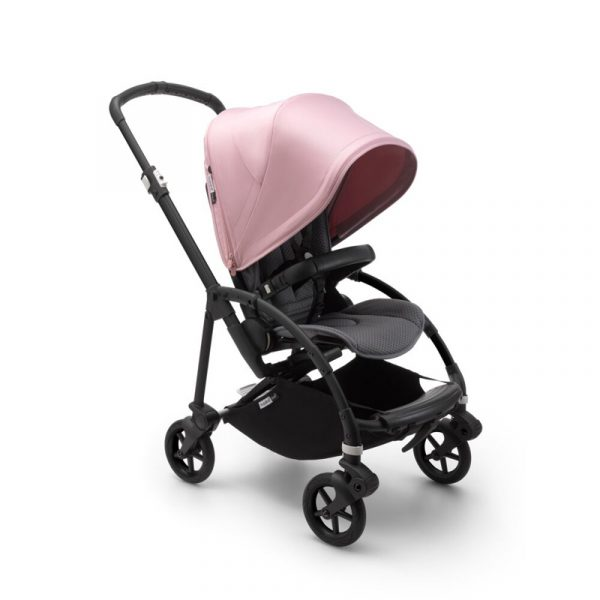 Bugaboo Passeggino Bee 6 Black Grey - Soft Pink